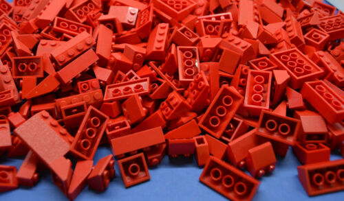 LEGO 100 x Dachsteine Dachziegel rot red roof brick normal and invers
