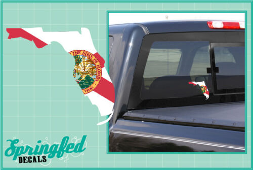 FLORIDA State Shaped Flag Vinyl Decal #1 Car Truck Window Sticker CUSTOM SIZES