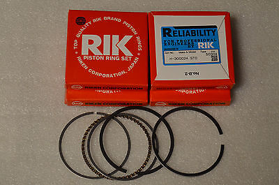 Fits Honda CB750-1969-1976 Standard 13011-300-024 Set of 4 Piston Ring Sets