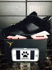 0e582b19fe3 Nike Air Jordan 6 Retro Low 'Sunblush' Black 768878-022 GS Size 7Y ...