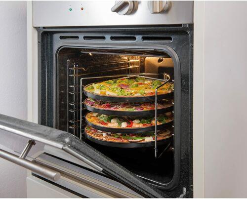 Acciaio al carbonio diametro 28 cm antiaderente 4 teglie per pizza rotonde