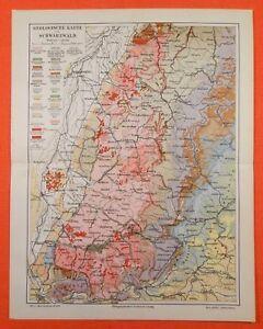 Karte Schwarzwald Zum Ausdrucken.Details Zu Geologische Karte Schwarzwald Freiburg Geologie Villingen Feldberg Von 1909