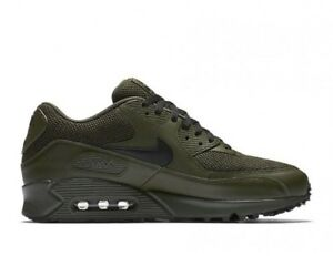 watch 22346 a71c8 Details about Nike Air Max 90 Ultra SE Leather UK 11.5 EUR 47 Cargo Khaki  Black 537384-306 New
