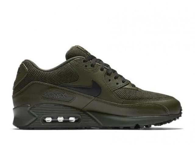 86a3ee0f2802 Nike Air Max 90 Ultra SE Leather UK 11.5 EUR 47 Cargo Khaki Black 537384-