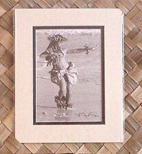 "Kim Taylor Reece ""Ki ipa"" 8 X 10 Double Matted Hawaiian Hula Print - New"