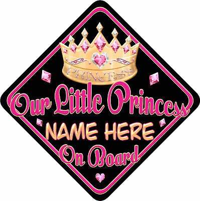 Personalised Baby On Board Car Sign New Our Princess BP