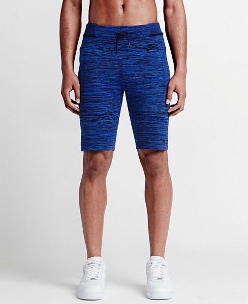 Men's Nike Tech Knit Shorts Blue Medium 728675 439 New With Tags Retail $150