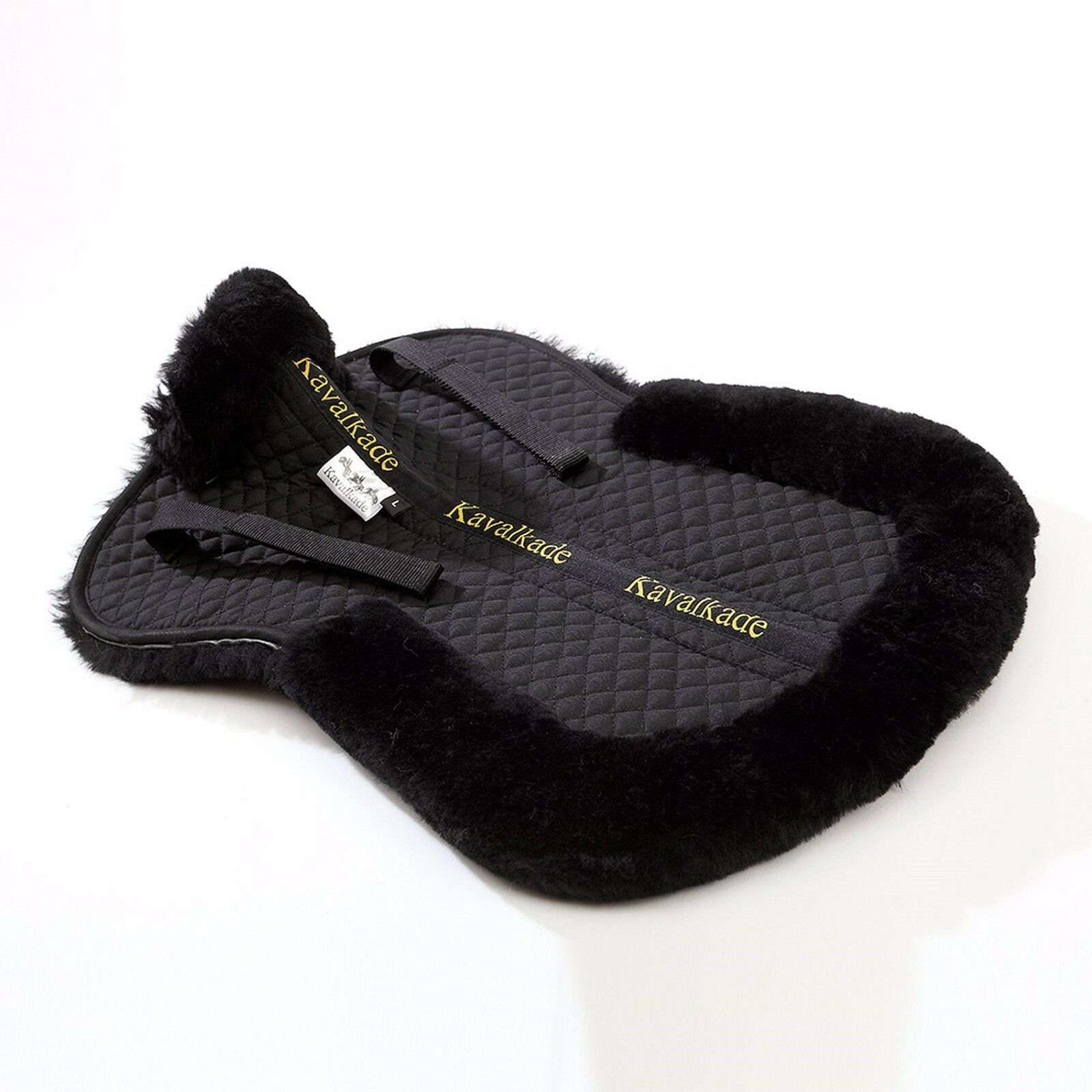Kavalkade Medical Lambskin Saddle Correction  Half Pad Rolled Edges Front & Rear  official quality