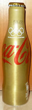 GOLD seltene COCA-COLA Coke OLYMPIA RIO 2016 Alu Flasche BRASILIEN bottle