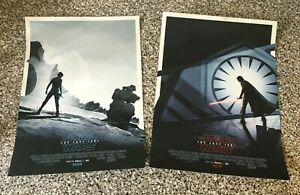 STAR-WARS-The-Last-Jedi-X-2-Posters-Matt-Ferguson-Odeon-Cinema-Collectable-Art