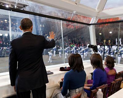 PRESIDENT OBAMA AT SWEARING-IN CEREMONY 2013 8x10 SILVER HALIDE PHOTO PRINT