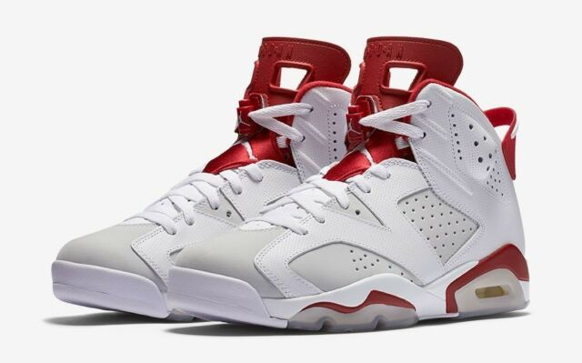 99f452dae51d96 Air Jordan 6 Retro Alternate VI Aj6 Men SNEAKERS White Gym Red ...