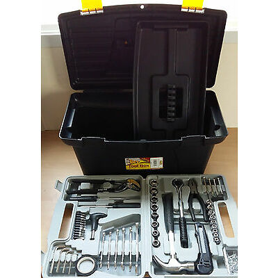 "142pc Tool Box Set Household Tools 19"" Box Handy Kit House Boat Great Value!"
