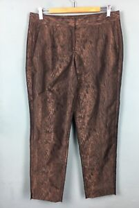 French-Connection-Black-Brown-Wood-Grain-Effect-Cigarette-Trousers-12-B61
