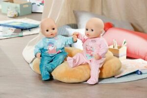 Baby-Annabell-My-First-Romper-Outfit-For-43cm-Dolls-Pink-or-Blue-Zapf-Creation