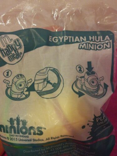 McDonald/'s Happy Meal Toys Minions 2015 Egyptian Hula Minion Brand New sealed