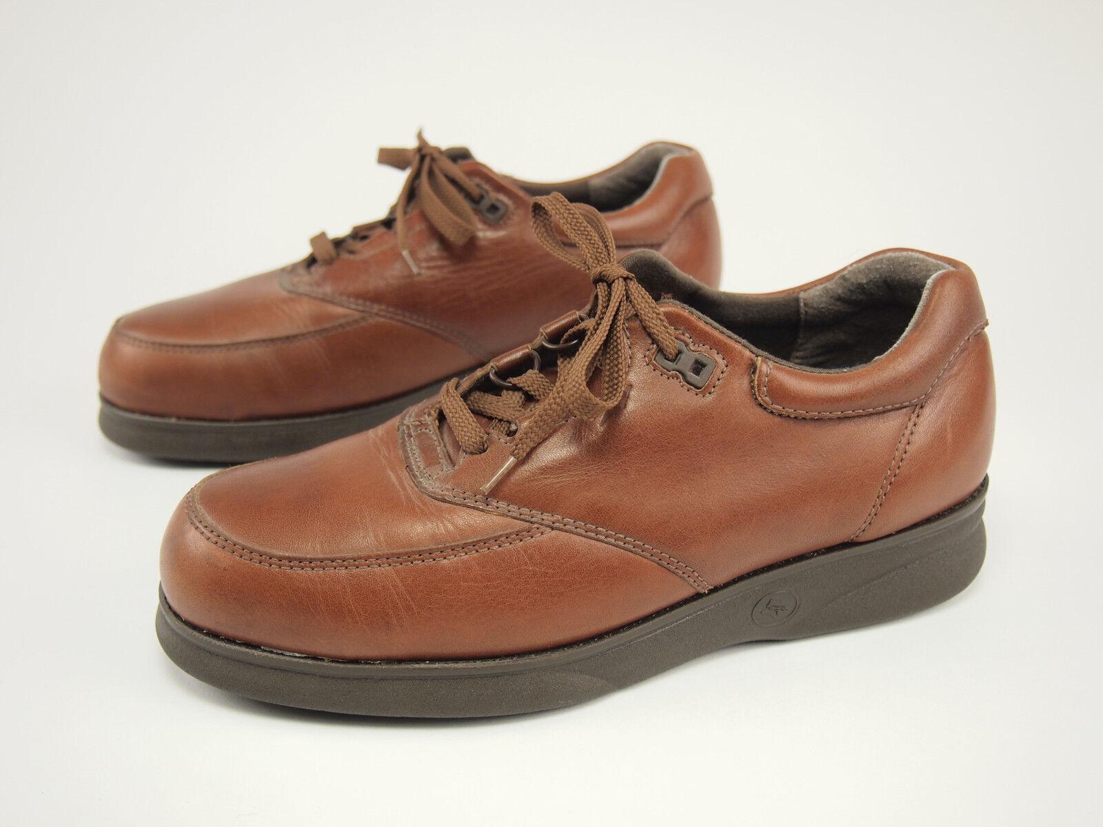 1990s CAROLINA Vintage Brown Leather SD Steel Toe Work Oxfords 7 EE