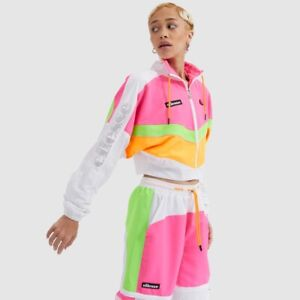 Ellesse-Womens-track-Top-Short-Fit-Luglio-Pink-White-Green-12uk-RRP-50