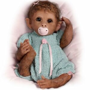 Clementine-Needs-A-Cuddle-14-039-039-So-Truly-Real-Monkey-Doll-by-Ashton-Drake-NRFB