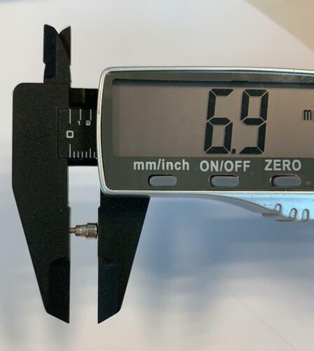 NOS NEW UNIVERSAL GENEVE 281 285 289 pulsador push button pusher 6,87mm original
