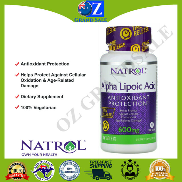 Natrol Alpha Lipoic Acid Time Release 600 mg 45 Tablets