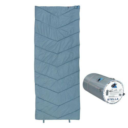 Saco de dormir STELLA -7° XL manta saco de dormir 200x80 azul/gris cálido suave