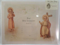 Old Print Factory First Holy Communion Record Scrapbook Print Framing Crt009
