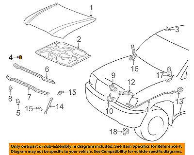 TOYOTA OEM-Hood Rubber Bumper Cushion 9054115004