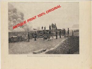 ARTILLERIE-Artillery-TURKEY-CANEE-Chania-CRETE-GREECE-ANTIQUE-OLD-PRINT-1897