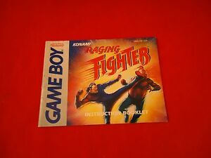 Raging-Fighter-Nintendo-Game-Boy-Instruction-Manual-Booklet-ONLY
