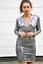 John-Zack-Sequin-Dress-Plunge-V-Neck-silver thumbnail 1