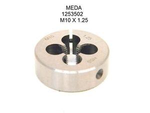 "NEW MEDA SCREW ADJUSTABLE HSS ROUND THREADING DIE M10 x 1.25 (1.50""-Dia) 1253502"
