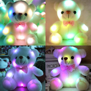 So Cute Toys for girls baby kids LED stuffed bear toy kids night Xmas Gift