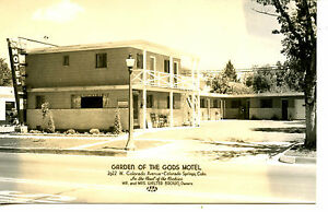 Image Is Loading Garden Of Gods Motel Roadside Colorado Springs RPPC