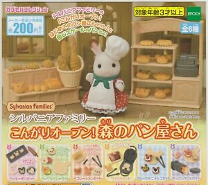 Sylvanian Families Gashapon Bakery Shop In the Forest Complete Set (6) Japanese