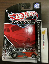 '56 Volkswagen Drag Beetle * Grey/Orange * 2011 Garage Hot Wheels J14