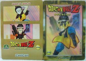 Dragon-Ball-Z-034-Chichi-034-Giochi-Preziosi-serie-GOLD-n-28-lenticolare