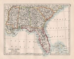 Us Map 1920.1920 Vintage Map United States North East Ebay