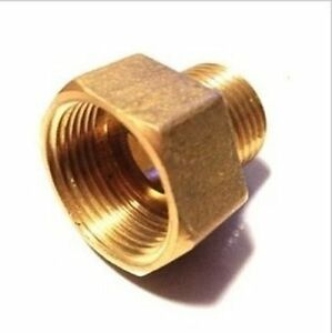 """Pipe Fitting NPT 3/4"""" Female to 1/2"""" Male Coupling Gauge adapter Brass N-J26"""