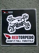 """Guy Martin / Red torpedo / """" givin' it full throttle """" decal / sticker / TT IOM"""