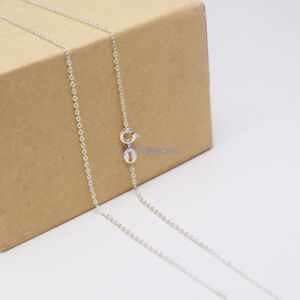 Ladies-Necklace-925-Solid-Sterling-Silver-Curb-Chain-16-034-18-034-20-034-22-034-24-034-26-034