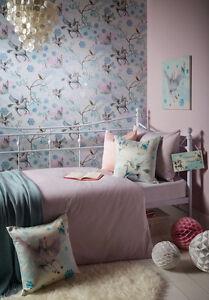 Fairytale Girls Bedroom Concept Pegasus Horse Wallpaper Art - Blue wallpaper for girls bedroom