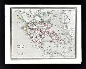 1835 Monin Fremin Map Greece Athens Corinth Cyclades Aegean Sea