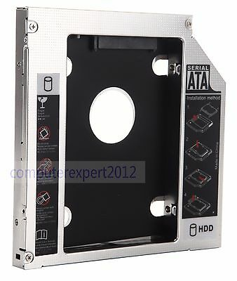 2nd SSD HD Hard Drive SATA Caddy Adapter Bay for Toshiba L505D-S5983 L775D-S7340