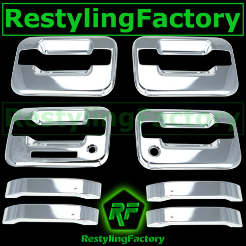 04-14 Ford F150 Triple Chrome Plated 4 Door Handle+keypad+with PSG keyhole Cover