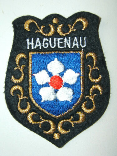 INSIGNE ECUSSON HAGUENAU BLASON TISSU BRODé