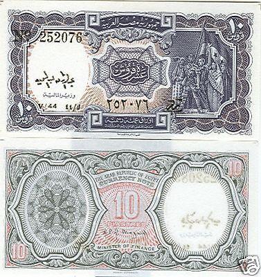 EGYPT 10 PIASTRES P-183 L.1940 SERIES 44 UNC CAT PR $3
