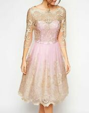 CHI CHI LONDON PINK LACE DRESS SIZE UK14/EUR42/US10