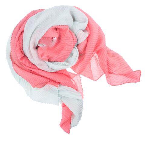 Langschal Tuch Schal Edel Viskose Crepe 2-farbig 83 Farbwahl