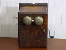 Antique Western Electric Model 300K Telephone Ringer w Oak Box 1894 Patent